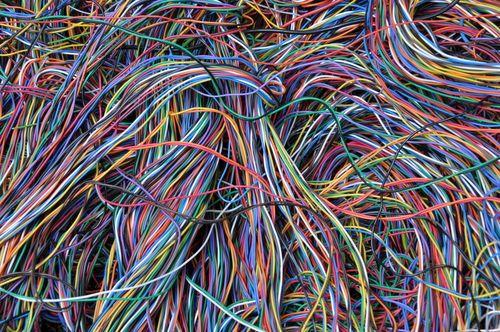 El proceso de reciclado de cables