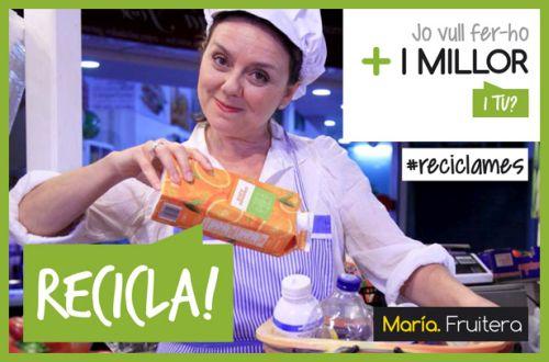 Campaña de reciclaje en los mercados de Valencia