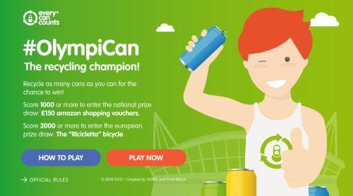 """#OlympiCan, videojuego del programa de reciclaje europeo """"Cada lata cuenta"""""""