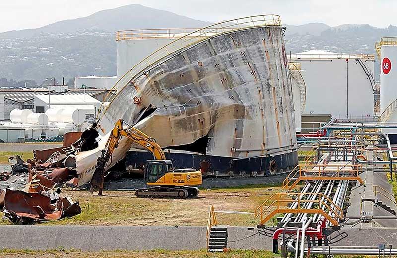 demolicion deposito combustible