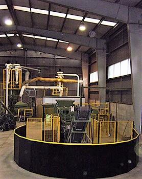 planta de reciclaje cables