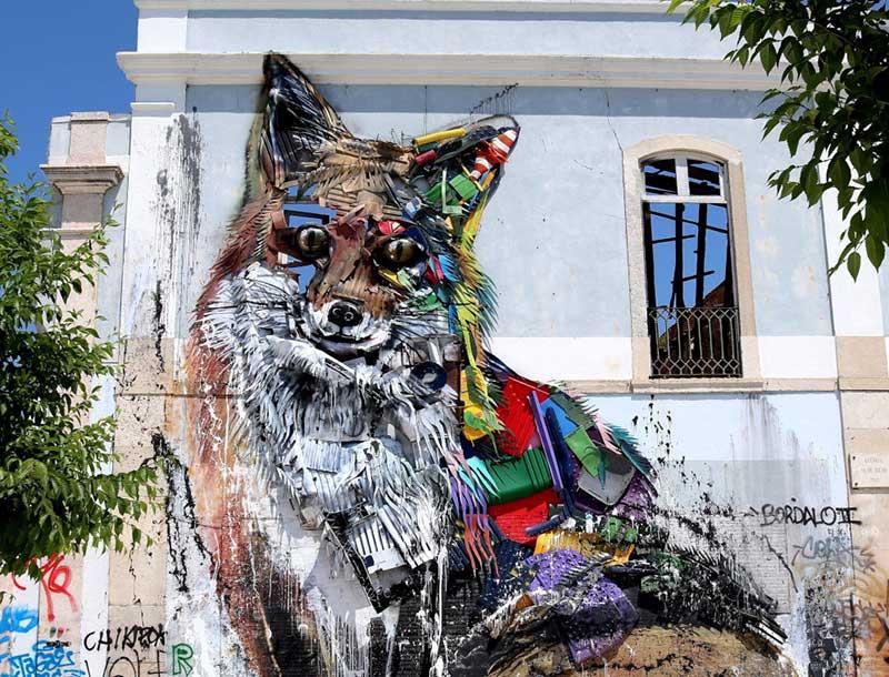 Esculturas de material reciclado
